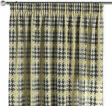 Vorhang mit Kräuselband, gelb-schwarz, 130 × 260