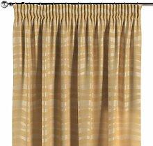 Vorhang mit Kräuselband, gold, 130 × 260 cm,