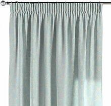 Vorhang mit Kräuselband, grau-türkis, 130 × 260