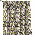 Vorhang mit Kräuselband, grün- violett, 1 Stck.