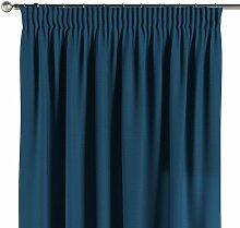 Vorhang mit Kräuselband, marinenblau , 1 Stck.
