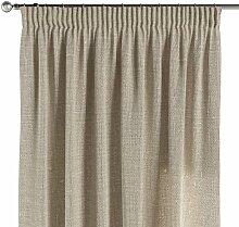 Vorhang mit Kräuselband, natur, 130 × 260 cm,