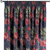 Vorhang mit Kräuselband, rot-schwarz, 1 Stck. 130