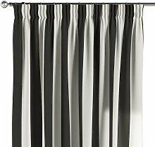 Vorhang mit Kräuselband, schwarz-weiß, 1 Stck.
