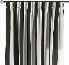 Vorhang mit Kräuselband, schwarz-weiß, 130 ×