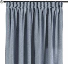 Vorhang mit Kräuselband, silber- blau, 130 × 260