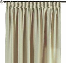 Vorhang mit Kräuselband, vanille, 130 × 260 cm,
