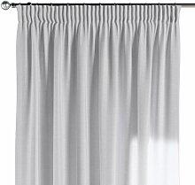 Vorhang mit Kräuselband, weiß, 130 × 260 cm,