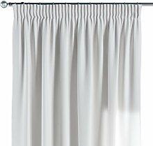 Vorhang mit Kräuselband, weiß/ecru, 130 × 260