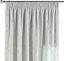 Vorhang mit Kräuselband, weiß-schwarz-grau, 130