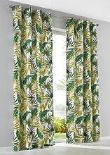 Vorhang Palme (1er-Pack), grün (H/B: 225/135 cm)