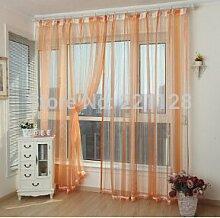 Vorhang Produkt, Fenster Screening Farbverlauf gestreift Tüll Blau, Grün, Golden, Gelb, Orange, Orange, W150cmXH270cm