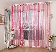 Vorhang Produkt, Fenster Screening Farbverlauf gestreift Tüll Blau, Grün, Golden, Gelb, Orange, rot, W200cmX270cm