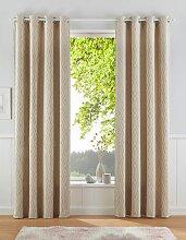 Vorhang, Romb, Leonique, Ösen 1 Stück 1, H/B: