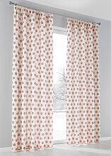 Vorhang Schneeflocke (1er-Pack), beige (H/B: