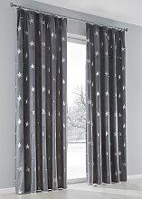 Vorhang Stars (1er-Pack), grau (H/B: 175/135 cm)