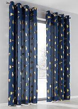 Vorhang Tannenbaum (1er-Pack), blau (H/B: 145/135