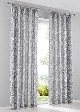 Vorhang Thea (1er-Pack), grau (H/B: 145/135 cm)