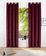 Vorhang, Velvet uni, my home, Ösen 2 Stück 1,