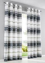 Vorhang Veronica (1er-Pack), grau (H/B: 145/146 cm)