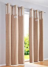 Vorhang Zoey (1er-Pack), beige (H/B: 145/110 cm)