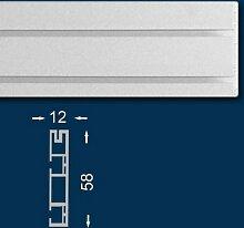 Vorhangschiene / Gardinenschiene 120 cm, Zweiläufig, Kunststoff