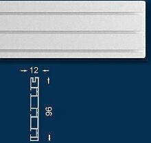 Vorhangschiene / Gardinenschiene 200 cm, Dreiläufig, Kunststoff