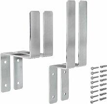 VORMANN Halterungs-Set Festzeltgarnitur Stahl