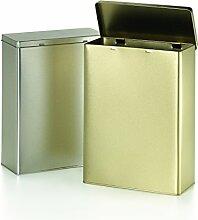 Vorratsdose gold, 1 kg Schanierdeckel 190 x 87 x 250 mm