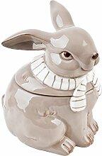 Vorratsdose Hase Design Porzellan Ostern (12x11x9cm, Schlamm)