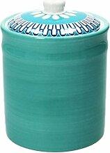 Vorratsdose / Kaffeedose BLUEAPP, azurblau, 1200 ml. Volumen, 18 cm hoch, aus Keramik von Tognana