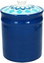 Vorratsdose/Kaffeedose BLUEAPP, dunkelblau, 1800 ml. Volumen, 20 cm hoch, aus Keramik von Tognana
