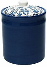 Vorratsdose/Kaffeedose LINK, dunkelblau, 1200 ml. Volumen, 18 cm hoch, aus Keramik von Tognana