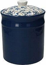 Vorratsdose / Kaffeedose LINK, dunkelblau, 2800 ml. Volumen, 23 cm hoch, aus Keramik von Tognana