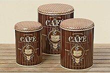 Vorratsdose Kaffeedose nostalgisch braun 22cm