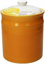 Vorratsdose / Kaffeedose TAG sonnenblumengelb, 2800 ml. Volumen, 23 cm hoch, aus Keramik von Tognana