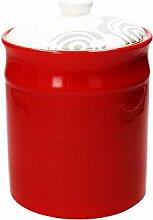 Vorratsdose/Kaffeedose WOM, rot, 2800 ml. Volumen, 23 cm hoch, aus Keramik von Tognana