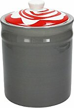 Vorratsdose/Kaffeedose YOUNG, grau, 1800 ml. Volumen, 20 cm hoch, aus Keramik von Tognana