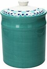 Vorratsdose/Kaffeedose YOUNG, grau, 2530 ml. Volumen, 23 cm hoch, aus Keramik von Tognana