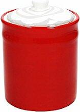 Vorratsdose/Kaffeedose YOUNG, rot, 1200 ml. Volumen, 18 cm hoch, aus Keramik von Tognana