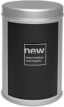 Vorratsdose mit beschreibbarer Fläche H. 16cm D. 11cm silber schwarz Eigenart (5,95 EUR / Stück)