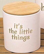Vorratsdose mit Holzdeckel it´s the little things rosa 13 cm hoch Aufbewahrungsdose