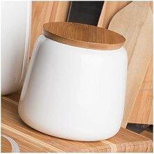 Vorratsdose STORAGE mit Bambus Deckel weiß Porzellan  H11cm D 9cm Sandra Rich (7,95 EUR / Stück)