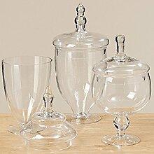 Vorratsdose Vorratsglas Bonboniere Glas mit Deckel