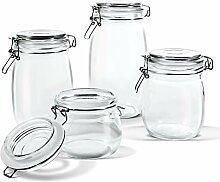 Vorratsdosen aus Glas mit luftdichtem
