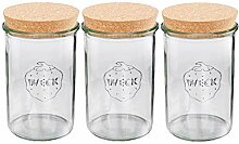 Vorratsglas 1 Liter 3er-Set Weckgläser mit