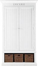 Vorratsschrank aus Holz, B 95 cm, weiß Newport
