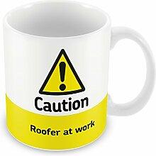Vorsicht Dachdecker am Arbeitsplatz Becher 334