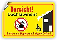 VORSICHT DACHLAWINEN - Winterdienstschilder /