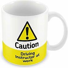 Vorsicht Fahrlehrer am Arbeitsplatz Becher 102
